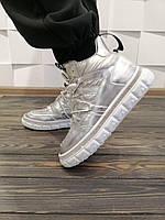 Стильные молодежные зимние болоневые кроссовки