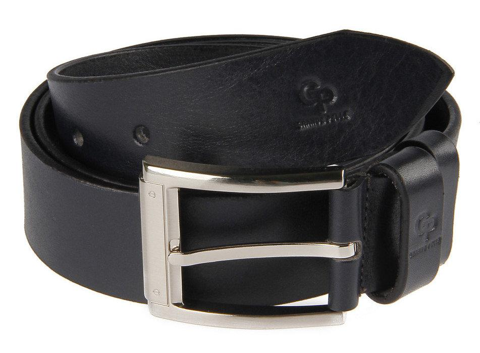 Ремень 4 см черный из итальянской кожи Vite Grande Pelle (430011500)
