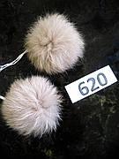 Меховой помпон Кролик, Св. беж, 6/7 см, пара 620