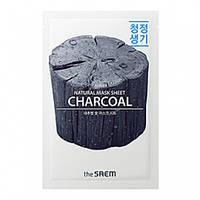 Тканевая маска с древесным углем The Saem Natural Charcoal Mask Sheet