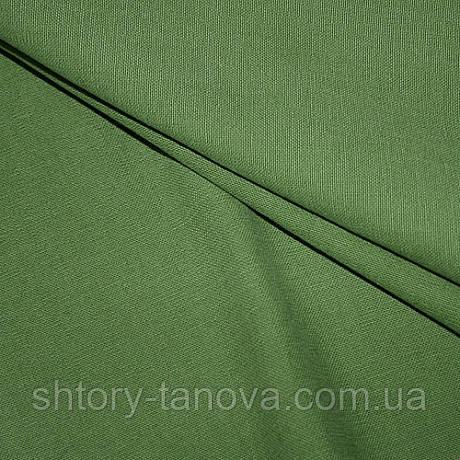 Ткань для обивки и штор хлопок софт, зеленый