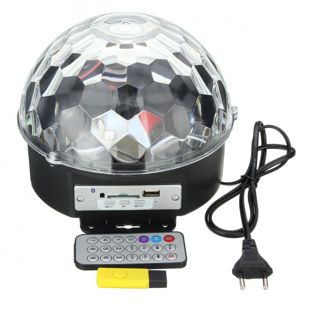 Диско шар MP3 LED Crystall Magic Ball Light Pro с пультом и флешкой
