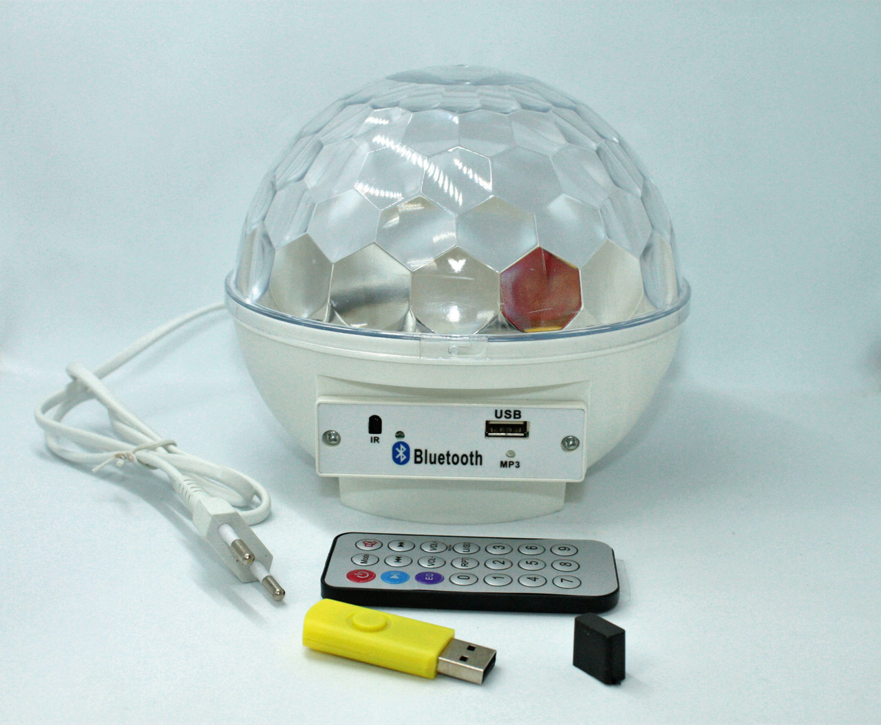 Диско Шар Bluetooth MP3 LED USB пульт флешка Crystall Magic Ball Light