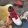 Nike Air Force High Black Red, фото 2