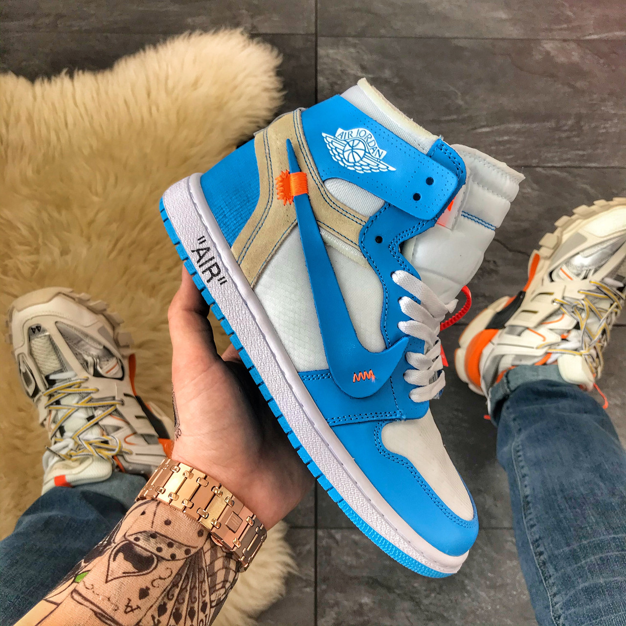 Nike Air Jordan 1 Off-White Blue