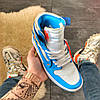 Nike Air Jordan 1 Off-White Blue, фото 2