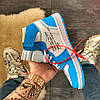 Nike Air Jordan 1 Off-White Blue, фото 3