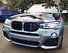 Решетка радиатора ноздри BMW X3 F25 рестайл 14-17 стиль M (черный глянц + колор), фото 8