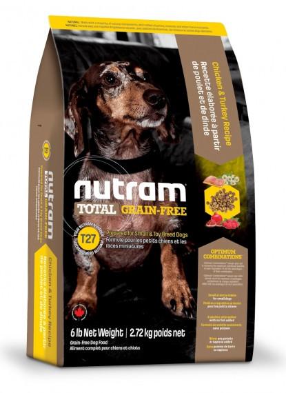Сухий беззерновой корм Nutram для собак дрібних порід з індичкою і куркою 2.72 КГ