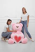 Плюшевый Мишка Бублик 160 см. розовый, фото 1