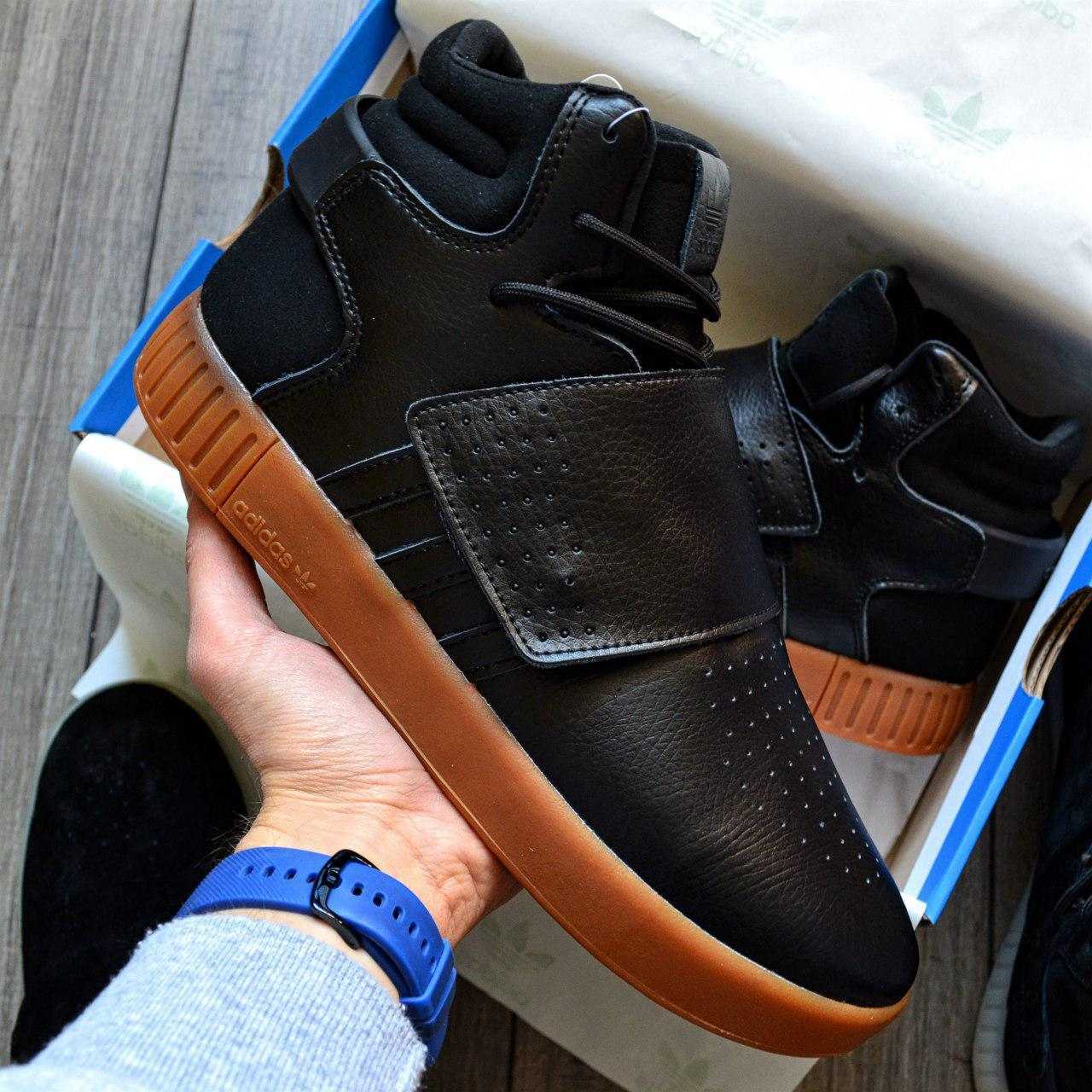 Кроссовки мужские Adidas Tubular Invader D8804 Black Gum
