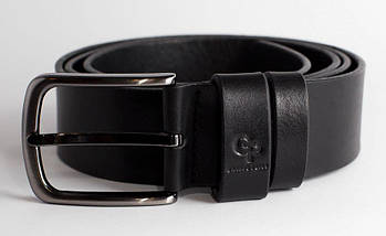 Ремень 4 см черный из итальянской кожи Classico Grande Pelle (430012300), фото 3