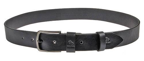 Ремень 4 см черный из итальянской кожи Classico Grande Pelle (430012300), фото 2