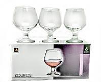 """Набор бокалов  6 шт стеклянных Uniglass 240 мл для коньяка и бренди  """"Kouros"""""""