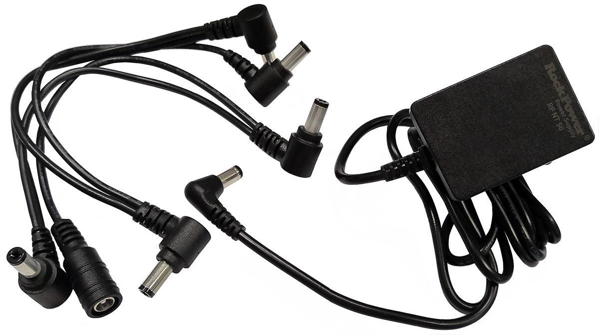 Мережевий адаптер для педалей ефектів ROCKPOWER RPNT50 9V 1300mA COMBO PACK