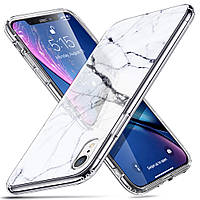 Чехол ESR для iPhone XR Mimic Marble Tempered Glass, White Sierra (4894240066942), фото 1