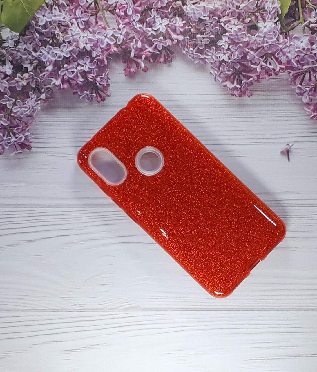 Чехол накладка Glitter на Xiaomi Note 6pro Red