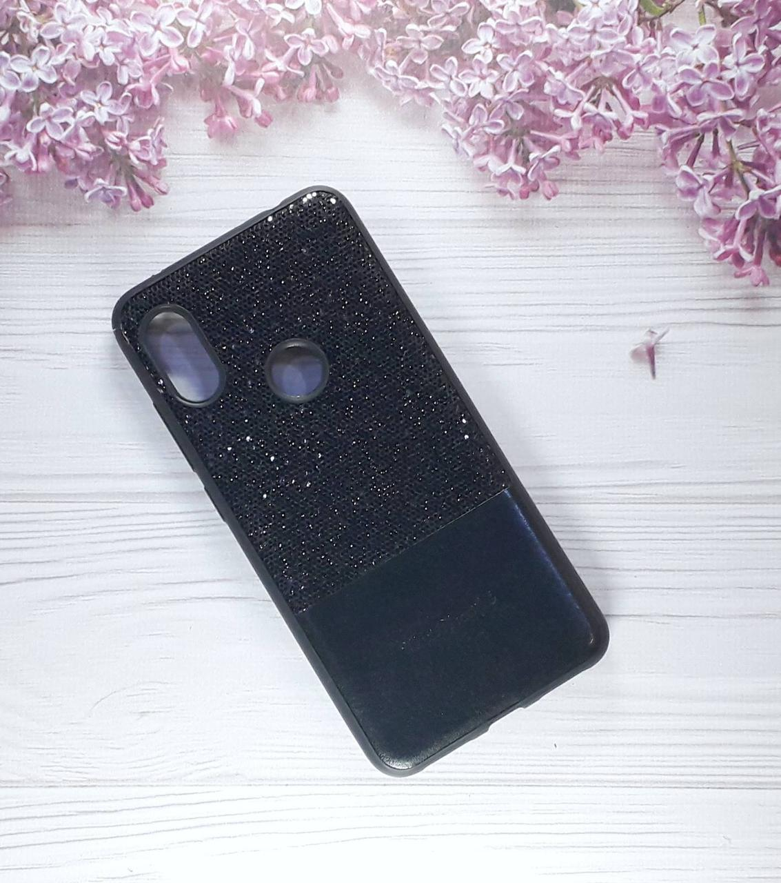 Чехол накладка Glitter на Xiaomi Note 6pro, Black