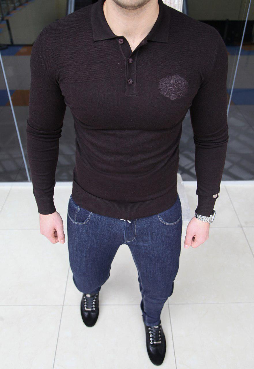 Мужская кофта Angelo Galasso H0146 черная