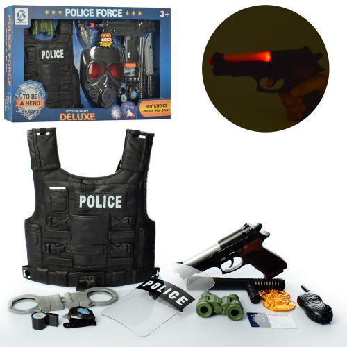 Набор полицейского HSY-032-33 жилет с оружием световые и звуковые эффекты