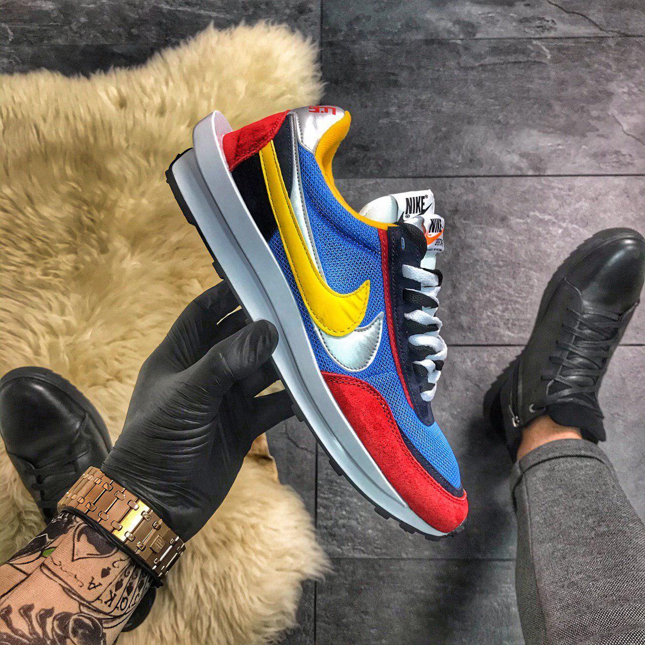 """Мужские кроссовки Nike LD Waffle Sacai """"Multicolored"""" ( в стиле Найк )"""