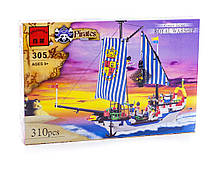 Конструктор Brick 305 Пиратский корабль 310 дет