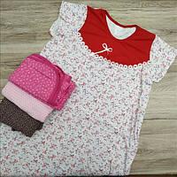 Ночная сорочка женская трикотаж Украина 108р с бантиком  НС-348