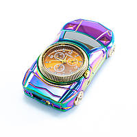 🔝 Спиральная зажигалка USB с часами, Машина, 813, электрозажигалка аккумуляторная | 🎁%🚚