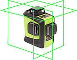 Лазерный уровень (нивелир) Fukuda 3D 93T-1 зеленый луч+штатив, фото 2