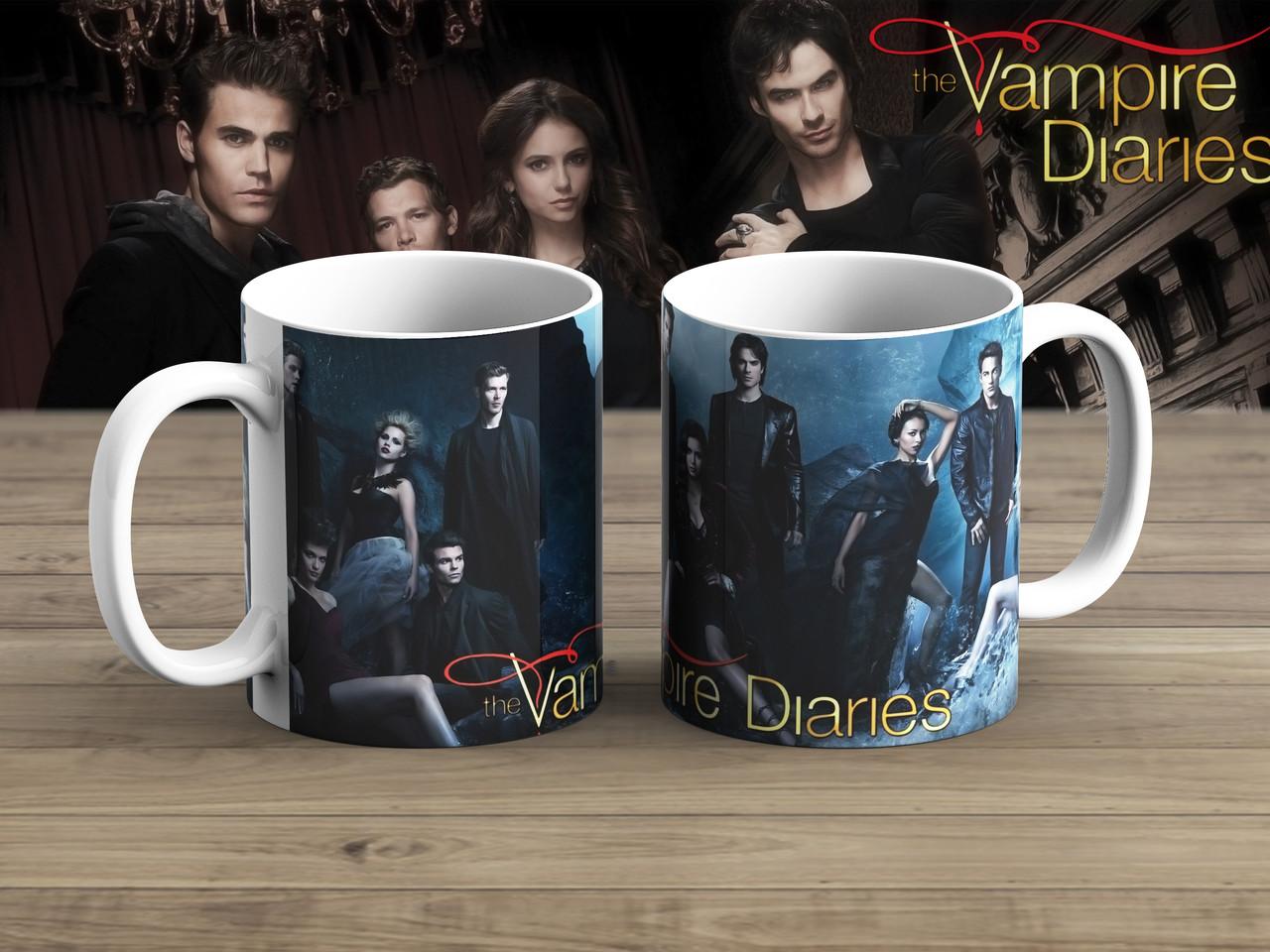 Чашка Елена Стефан И Дэймон Дневники вампира / The Vampire Diaries