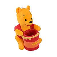 М'яка іграшка підставка стаканчик 7,5х6,5х6,5 см Вінні Пух 16см на присосці (41202.001)