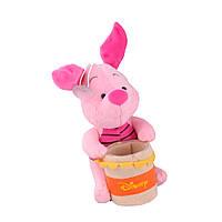 М'яка іграшка підставка стаканчик 7,5х6,5х6,5 см П'ятачок 17 см на присосці (41202.002)