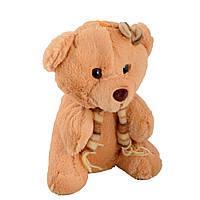 М'яка іграшка ведмедик з шарфиком 22 см рудий (41204.002)