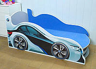 Кровать машина с подсветкой фар  Спорт 9
