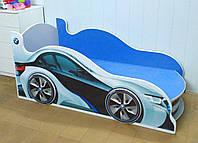 Ліжко машина з підсвічуванням фар Спорт 9