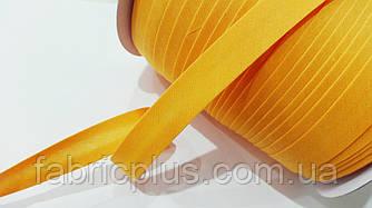 Косая  бейка  матовая 15 мм (032) апельсин