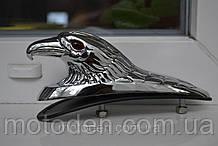 "Эмблема ""голова орла"" металл хром на крыло мотоцикла, капот ретро автомобиля"