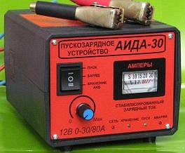 Пуско зарядное импульсное устройство для автомобильного аккумулятора АИДА-30 12 вольт безопасный пуск