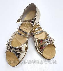 Туфли для танцев детские (цвет: зеркальное золото)