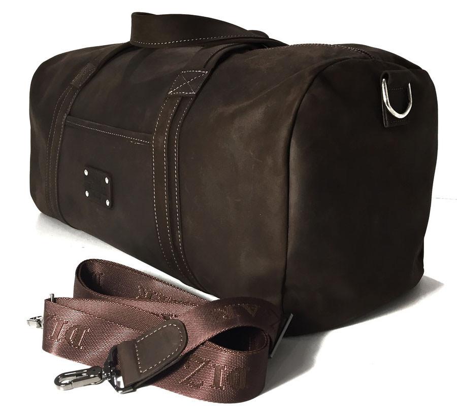 Дорожная сумка кожаная S-62 Dizar Сумка спортивная кожа крейзи коричневая