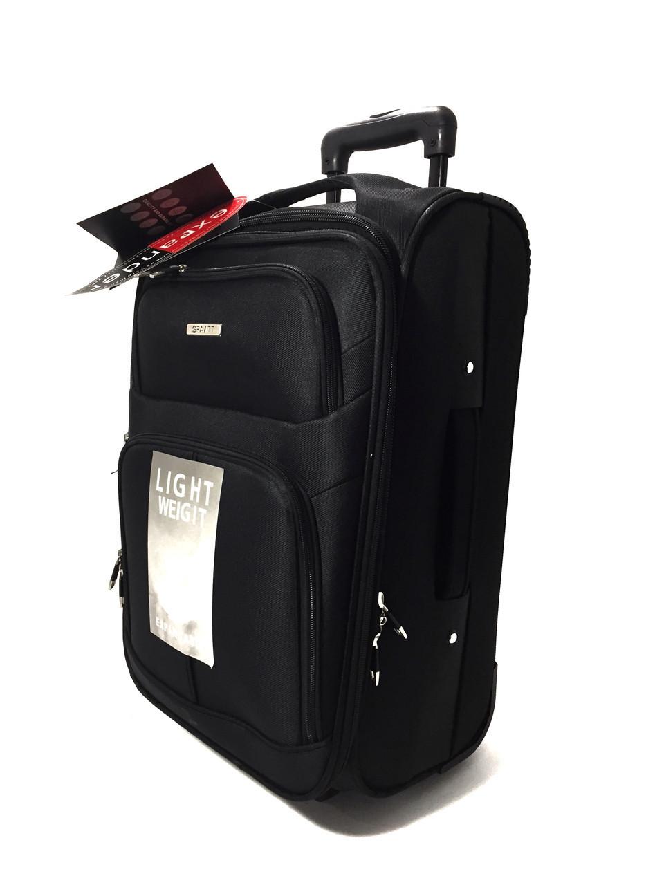 S-117 GRAVIT чемодан черный текстиль