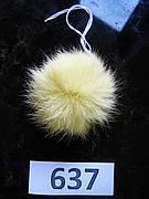 Меховой помпон Кролик, Св.Ваниль, 6/7 см, 637