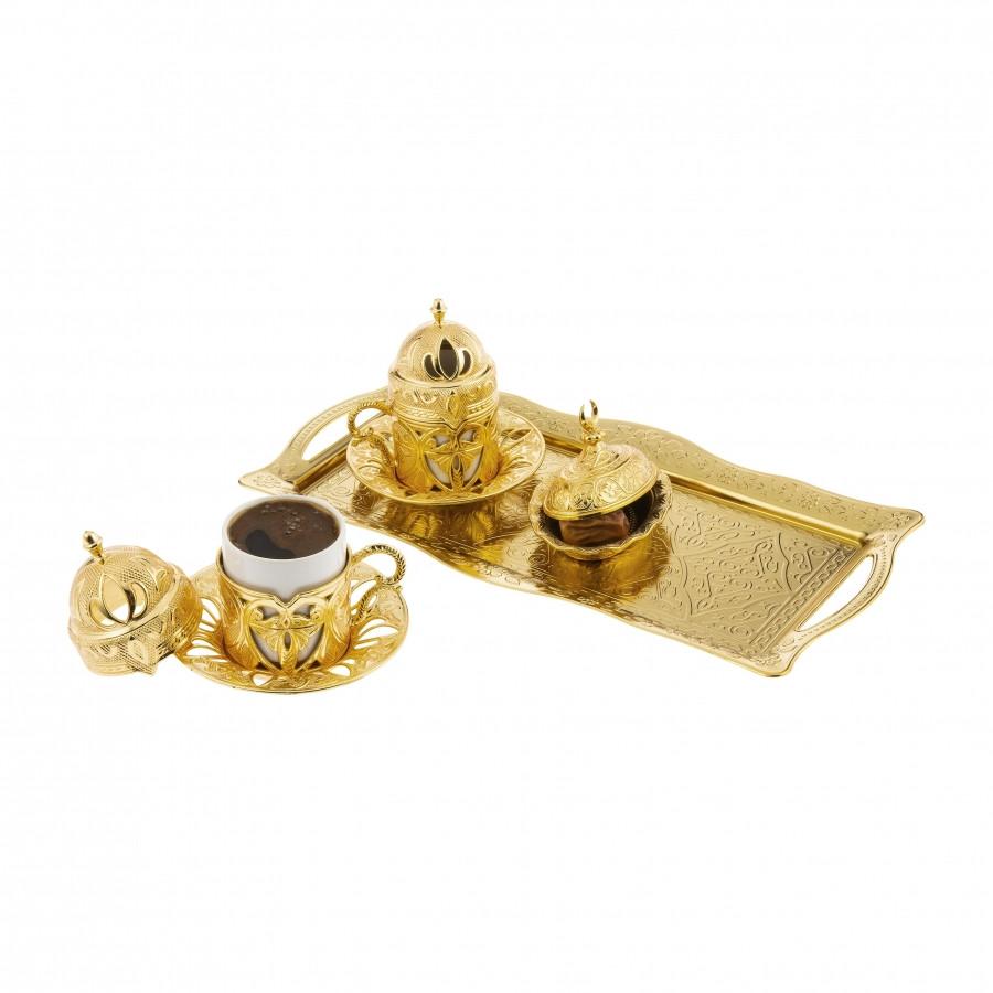 Набор чашек для кофе Sena Золотистый цветок на 2 персоны