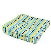 Подушка для стульев 40х40 см в полоску черную желтую голубую (47501.001)