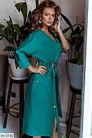 Модное трикотажное женское платье р-ры 42-46 арт 733