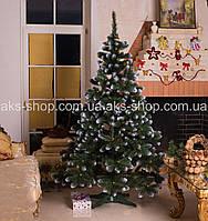 Искусственная ель элитная Калина Золотая белый кончик 2.2м, фото 1