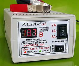 АИДА-5si- зарядное десульфатирующее с цифр. индикацией для кислотных/гелевых АКБ