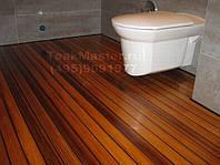 Ванная Комната с тиковым полом! (926) 5639492 Пол Тиковый в ванной комнате!