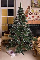 Искусственная ель элитная Калина Красная с шишками белый кончик 2.2м, фото 1