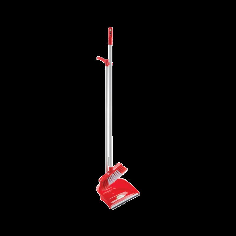 Комплект для прибирання Совок + Щітка Dust Set AF201 ЧЕРВОНИЙ (12 шт/ящ)